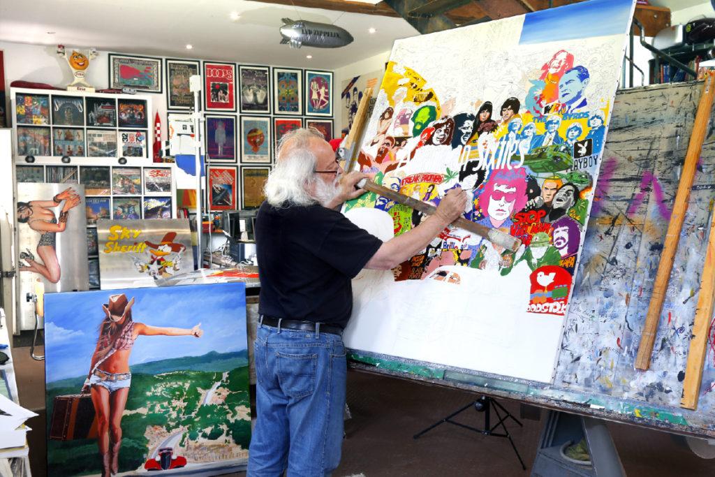 Alain Bertrand, peintre hyperréaliste et Rock N' Roll.