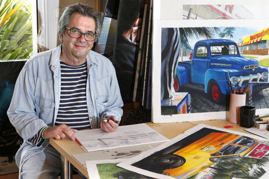 Patrice Larue, artiste peintre aux multiples facettes.