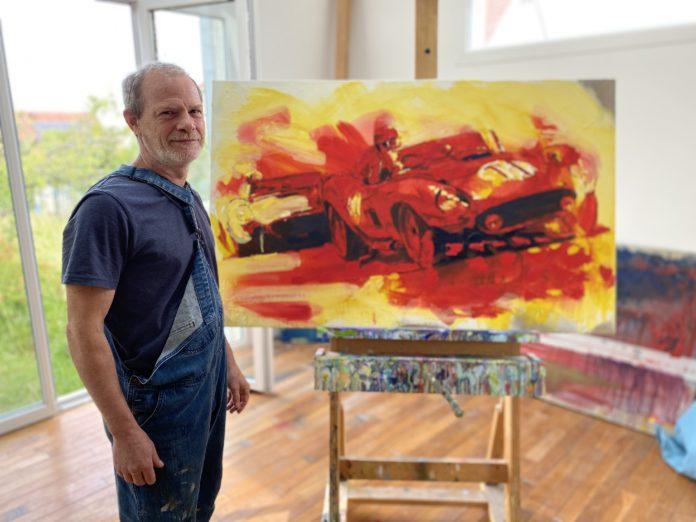 Art : Yahn Janou, peintre de l'automobile et du Mans