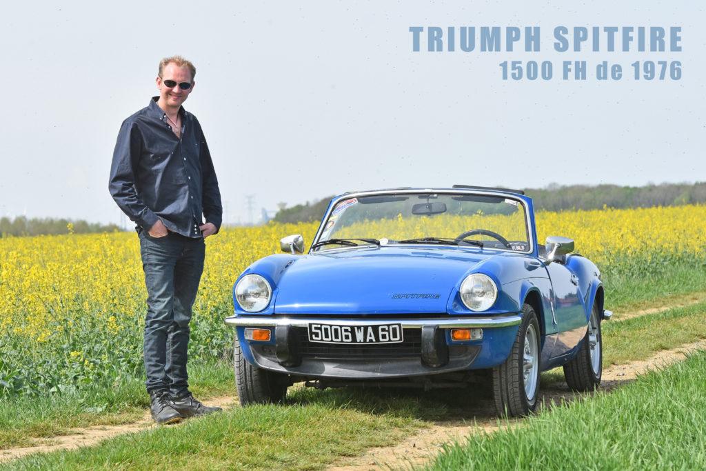 Portrait : Michaël et sa Triumph Spitfire